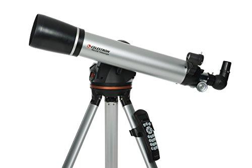 Celestron LCM 90 Refractor - Telescopio Negro, Metálico