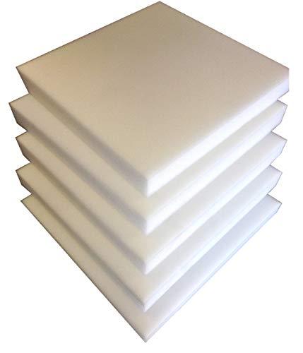bng 5 Plaques Mousse polyuréthane 40X40 X3cm tapissier ameublement Galette Chaise