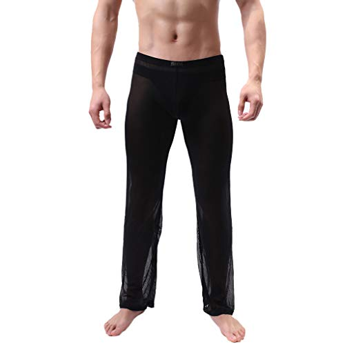 HET Men Durchsichtig Mesh Lange Hosen Perspektive Unterhose Transparente Hose Weiche, Bequeme, dünne Mesh-Dessous