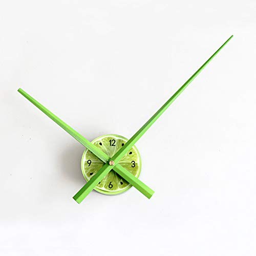 wczzh Moderne Mute DIY große Wanduhr 3D Aufkleber Home Office Decor Geschenk/Große Zeiger Wanduhr Obst DIY Uhr Shell Clock Core Zubehör Mute - Kalk