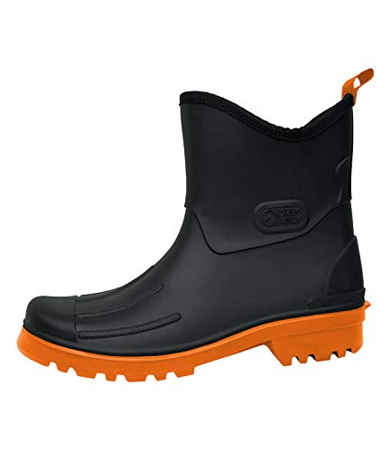 Herren Regenstiefel Peter von Dry Walk (43, schwarz-orange)