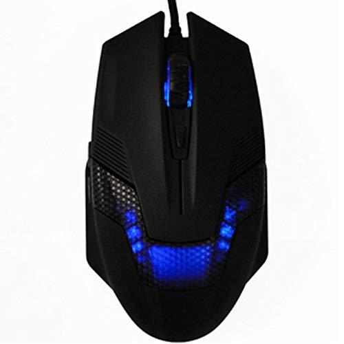 TDCQQ Grüne Hornisse USB verdrahtete variable Geschwindigkeit 2000DPI optische Gaming-Maus mit LED-Licht-Gaming-Maus, optische Gaming-Maus verdrahtete ergonomische Mäuse mit Anpassung DPI für PC-Lapto -