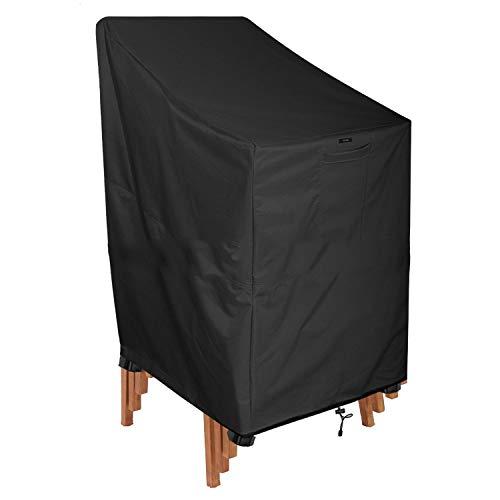 LJXiioo Wasserdichte Sitzabdeckung, Garten-Patio-Möbel im Freien, die Stuhl-Abdeckung stapeln (64 * 120 * 70CM) -