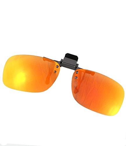 Brillen-Clip Sonnenbrille Clip on Brillenaufsatz polarisierend verspiegelt + getönt Herren Damen - mth4 (ko18 - sun verspiegelt)