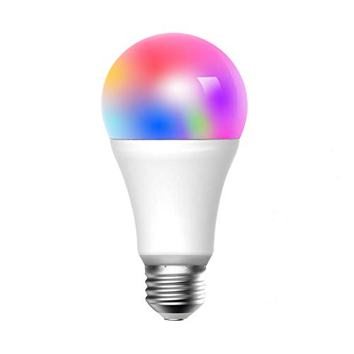 Meross Smart WLAN Mehrfarbige Dimmbare LED Glühbirne Fernbedienung 60W Äquivalent E27 2700K-6500K kompatibel mit Alexa, Google Home und IFTTT, MSL120EU (Setzen Home)
