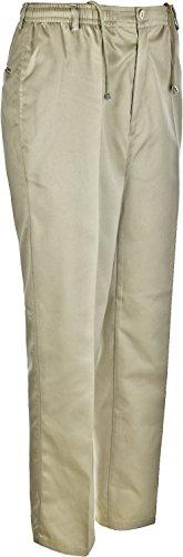 Maglia da rugby da uomo pantaloni elastico in vita Interno Gamba 31cm Cricket Sport Stone