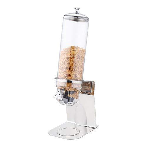 Müslispender/Cerealienspender/Cornflakesspender / 4 Liter Single-Spender für Müsli, Cornflakes und Cerealien Edelstahl