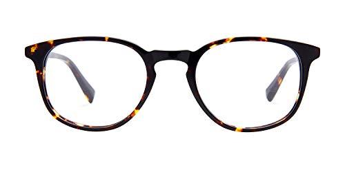 Baxter Blue Eyewear Computerbrille, modisch, Nicht Bedruckt, blaues Licht, blockiert durch unser Paar braun Maple Tortoise