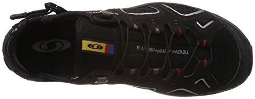 Salomon Techamphibian 3, randonnée sandales homme Multicolore (Black/autobahn/flea)