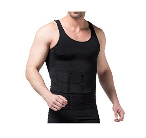 Mens Abnehmen Shapewear Compression Shirt Bauch Control Korsett Taille Cincher Unterwäsche -