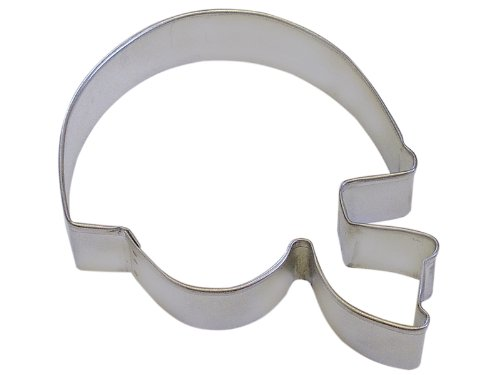 CybrTrayd R & M Football Helm 11,4cm Cookie Cutter in Haltbar, ökonomisch tinplated Stahl Helm Cookie Cutter