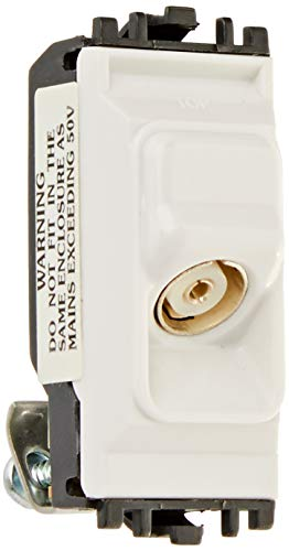 MK Electric Grid Plus nicht isolierte TV CO Axial Outlet Weiß 1 Switch Modul -