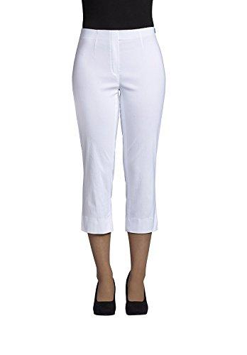 Robell Marie 07 Slim Fit Stretchhose Schlupfhose Damen Capri Hose #Marie 07 (50, weiß(10)) Capri Crop Hose