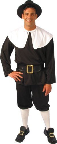 Alexanders Kost-me AC18075-M Mens Pilgrim Kost-m - - Pilgrim Kostüm Für Erwachsene