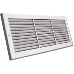 Shoemaker 1100FF-28X8 Fixed Blade Baseboard Return Air Grille 28 X 8'' by Shoemaker