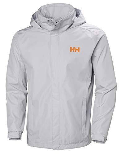 Helly Hansen Dubliner Regenjacke mit verstaubarer Kapuze, Herren, Dubliner Waterproof Rain Jacket with Packable Hood, Grey Fog, X-Large
