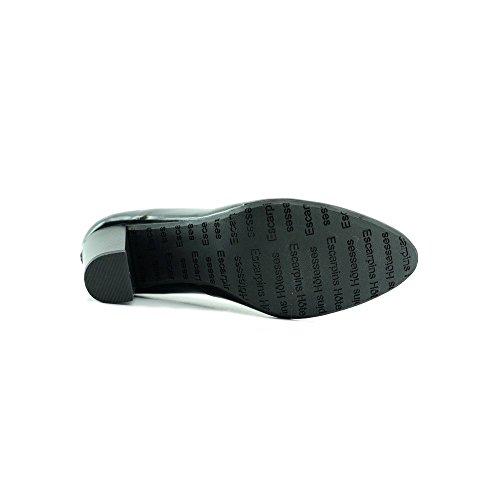 Scarpe Nero col Tacco Hostess Marignane V-Nero