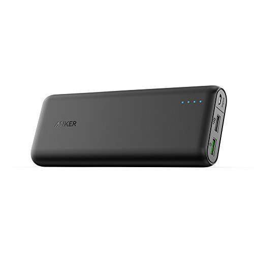 Anker Batteria Esterna PowerCore 20000 con Quick Charge 3.0 - La Prima Batteria Anker con Quick Charge 3.0, Retrocompatibile con tutte le Versioni Qualcomm Quick Charge per Samsung, iPhone, iPad e altro