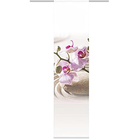 Home fashion 87250-731 Crawley - Panel japonés (245 x 60 cm, aspecto de seda, impresión digital), color