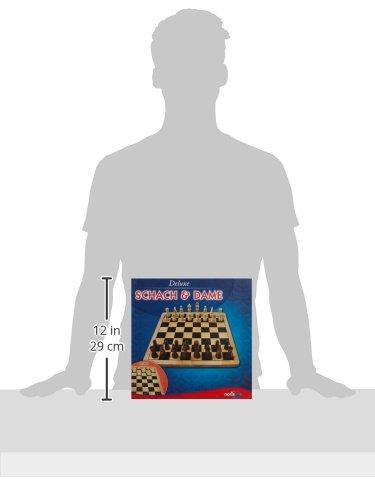 Noris-Spiele-606104577-Deluxe-Schach-Dame-aus-Holz