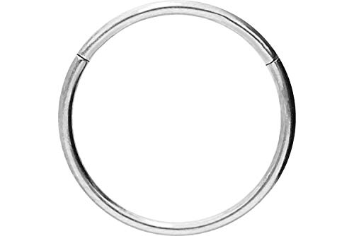 PIERCINGLINE Chirurgenstahl Segmentring Clicker | Piercing Ring Septum Helix Tragus | Farb & Größenauswahl