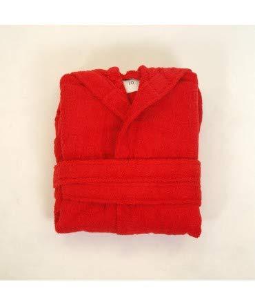 10XDIEZ Albornoz niño Clasico Rojo - Medidas Albornoces