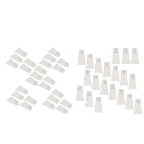 B Blesiya 40er Pack Stücke 30ml Leer Nachfüllbar Probe Weiche Röhren Flasche Behälter für Kosmetik Shampoo Cleanser Shower Gel, Body Lotion