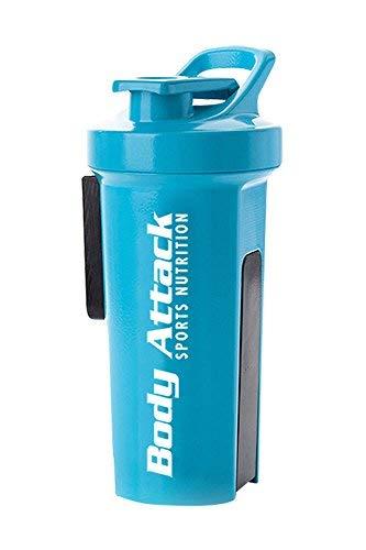 GA11 Sports Shaker+ mit BodyAttack Schriftzug, blau, 1000 ml, 1er Pack