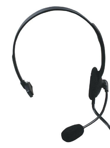 König CMP-HEADSET28 Auriculares con micrófono para telefonia (RJ-9), color Negro