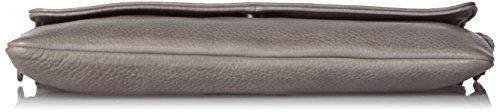 Legend Damen Maryland Clutch, 4x14x25 cm Grau (Grau)