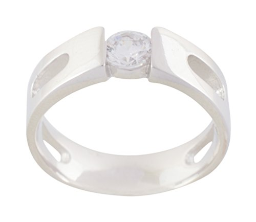 Malik Jewellers 92.5 Sterling Silver Ring for Men (Size: 23, ss9250585--23)