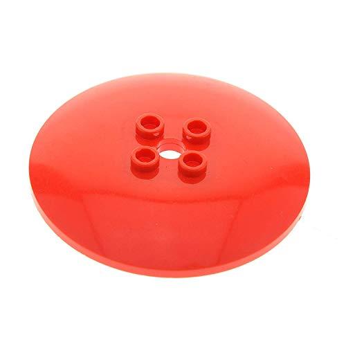 Bausteine gebraucht 1 x Lego System Satelliten Schüssel rot 6 x 6 Sat Radar Schild Noppen leer für Set Star Wars 7665 7418 45729a 44375a 6 Radar