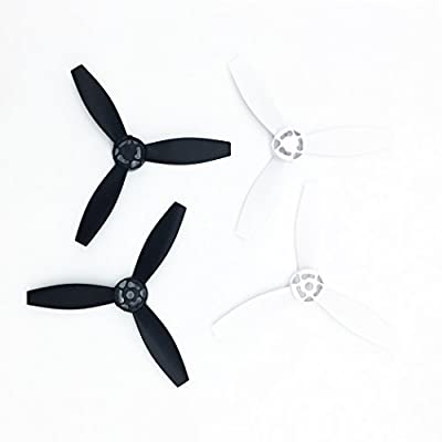 Anbee® 4pcs Plastic Propellers Props Rotor for Parrot Bebop 2 Drone Quadcopter, Black&White from Anbee