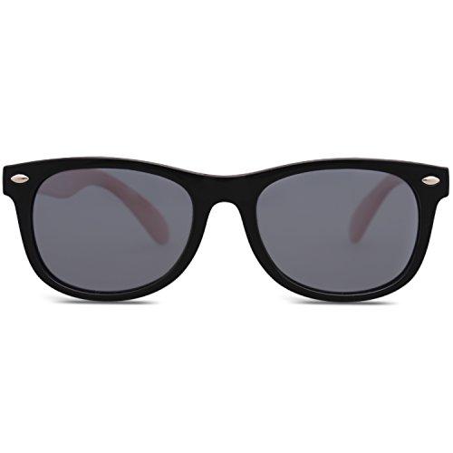 SOJOS Kinder Wayfarer Flexible Silikon gummiert verspiegelt Sonnenbrille für Jungen und Mädchen...