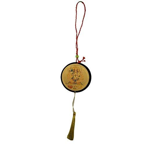 Divya Mantra Sri Shri Pancha Mukhi Hanuman Talisman Gift Pendant Amulet for Car Rear View Mirror Decor Ornament Accessories/Good Luck Charm Protection Interior Wall Hanging Showpiece  available at amazon for Rs.249
