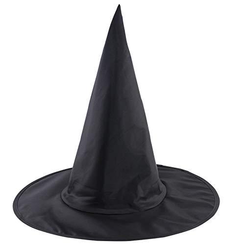 Wanglai cappelli da strega di halloween/costume di halloween spoof puntelli/appuntito cappello/cappelli di festa di halloween per adulti e bambini/nero