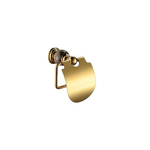 JUN Badezimmer-Set Alle Kupfer Jade die Basis des Schwarzen Goldes Jade Anhänger Verpackt Handtuchhalter Bad Handtuchhalter Runden, Toilettenpapierhalter (Schwarze Schüssel Anhänger)