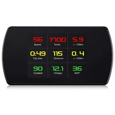 ExcLent P12 4,2 Zoll LCD OBD HUD Digital Auto Head Up Display - SCHWARZ