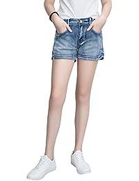 c6c3b5ecb9 Demon Hunter 601 Shorts Series Mujer Pantalones Vaqueros Cortos Jeans