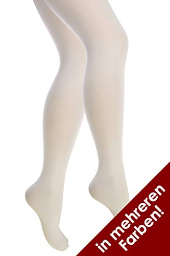 Thetru Damen-Strumpfhosen in weiß | Größe L/XL | Blickdichte-Strumpfhosen für Karneval und Fasching (weiß)