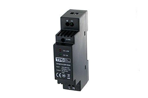 10 W/24V - 28V sobre carril-fuente de alimentación, estabilizado, TDR10-24VK, 420mA - TPS Elektronik