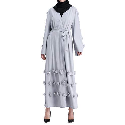 i-uend 2019 Damen islamisch Splicing Kleider Große Größe -