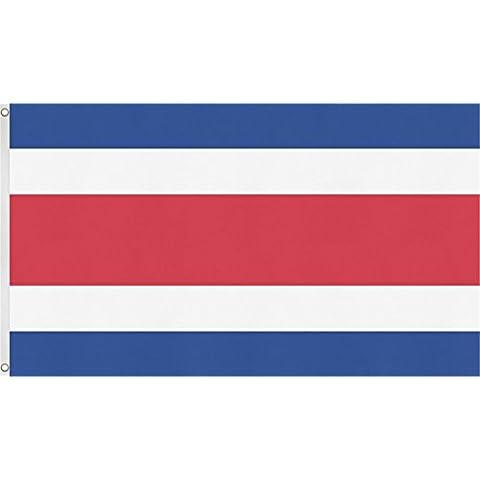 Diversi bandiere/Bandiere/National bandiere Islanda Germania Italia Spagna USA.. Issare la Bandiera, dimensioni: 90x 150cm, Costa Rica, 90x150