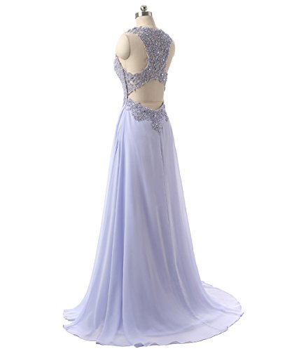 e0e10338a86 Callmelady Chiffon Long Prom Dresses For Women Evening Gowns UK With ...