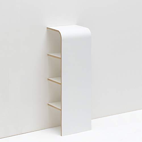 Wand-schuhregal (Tojo schuh - Schuhregal mit 3 Fächern - Offenes Designer Regal - Weiß - Schuhkommode für 3 Paar Schuhe - Wandregal - Geeignet als Ablageregal für Schlüssel, Handy, Geldbeutel - Offenes Schuhregal)