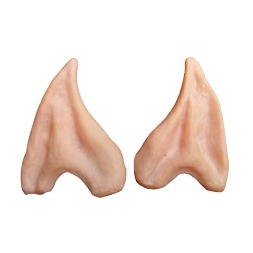 (OdeJoy 1 Paar Latex Soft Ears Halloween Fälschung Ohr Cosplay Kostüm Ohr Tipps Prop Ohren Maske Kostüm Langes Ohr Maskerade Kostüm Elf Ears Latex Fälschungs Ohr (Haut Farbe, 1 PC))
