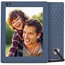 Nixplay Seed 8 inch WiFi Digitaler Bilderrahmen - Blau - Software nur in Englisch, mit Euro-Stecker.