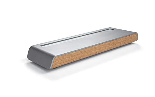 SIGEL SA401 Stifteschale, Metallic-Holz-Optik, Acryl mit Filz, 24 x 7,5 cm -