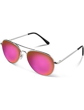 Duduma Lente Antirreflejante Completo Aviador UV400 Gafas de Sol con Diseño de Moda Retro Para Hombre y Para Mujer.