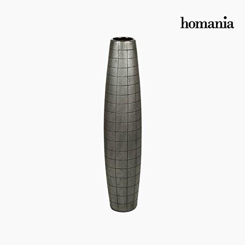 Vase de sol Céramique Argent (17 x 17 x 80 cm) by Homania